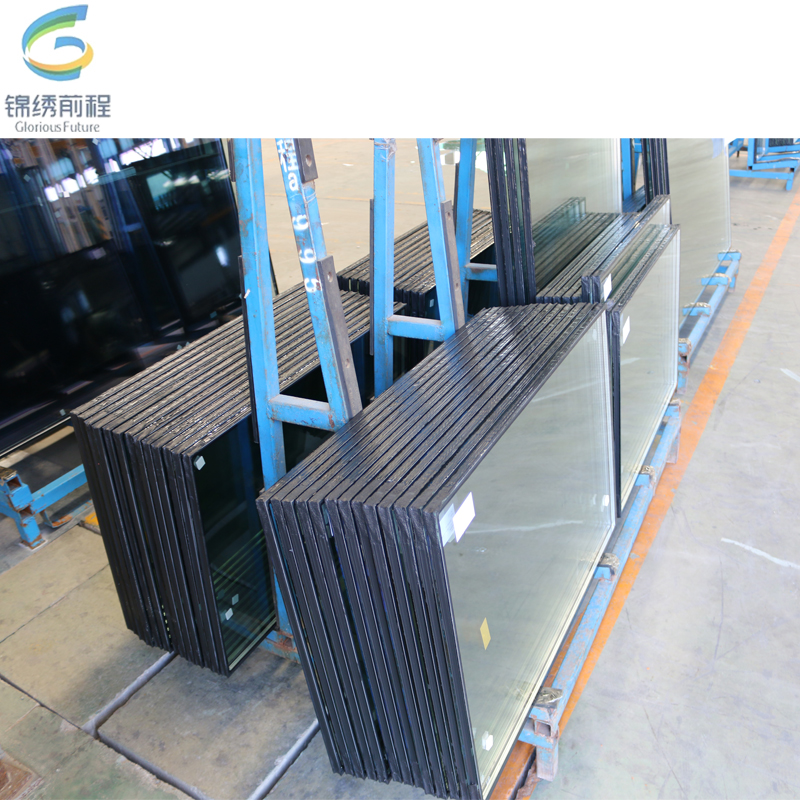 safety low e double glazing building glass for the curtain wall