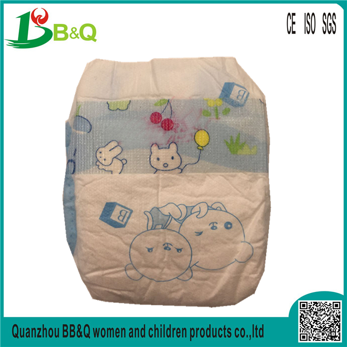 OEM Leak guard printed disposable baby diapers in bulk