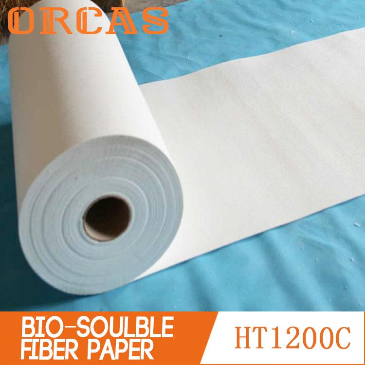 Non-flammable paper bio-soluble ceramic fiber paper for insulation