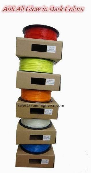 PLA Glow in dark 3d filament, CE rosh certificate