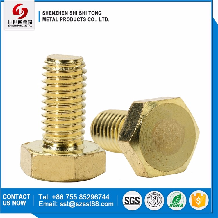China Manufacturer Factory Supply Wire Fastener Brass Hex Head Bolts