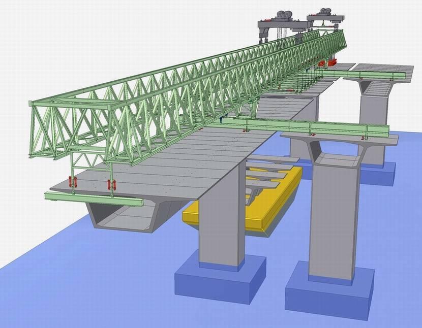 Bridge launching crane