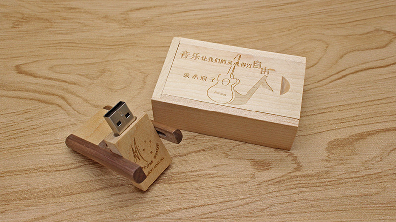 CaraUSB rotate card usb flash disk wood flip cards pendrive rotation card memory stick