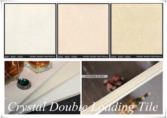 Non-Slip Nano Shiny Tropicana White Crystal Double Loading Porcelain Kajaria Floor Tile List 600x600