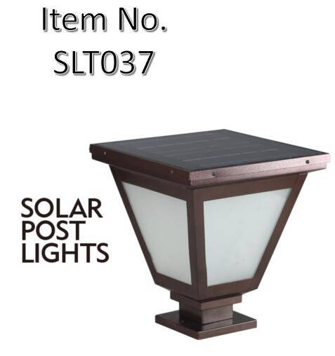 Decorative Post Mounted Solar Pillar Light