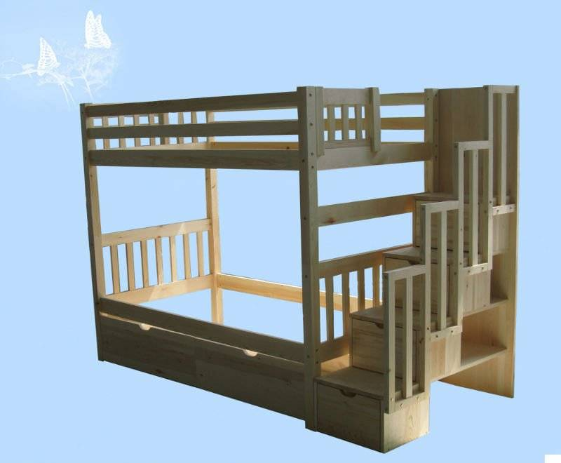 solid wood bed for bunk bed