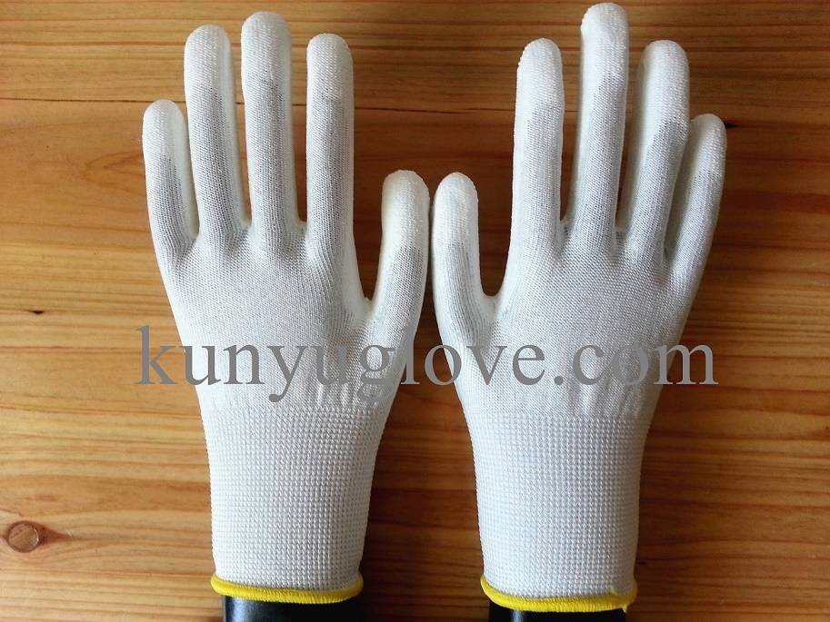 SAFETY 13G Knitted PU Palm Cut Resistant Gloves/working gloves importers in USA