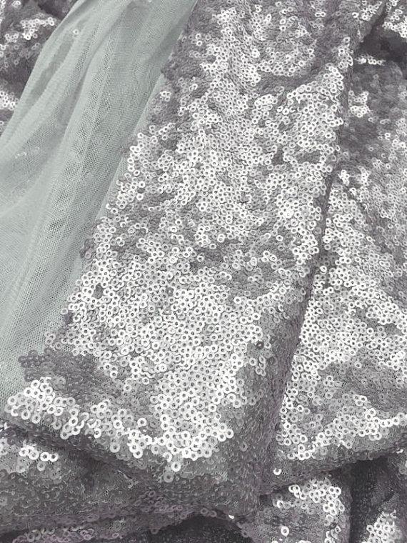 Silver Sequine Fabric