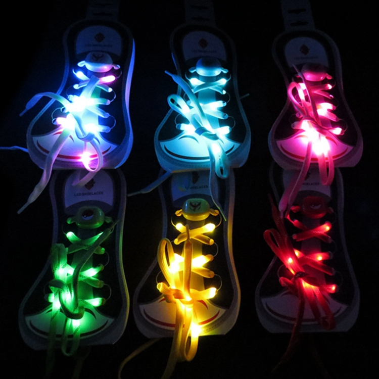 LED Shoelaces Decorative Shoelace for Dancing Party Charming Shining Shoelaces