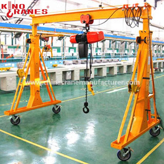 4 Wheels 5 Ton Mini Portable Mobile Gantry Crane Price