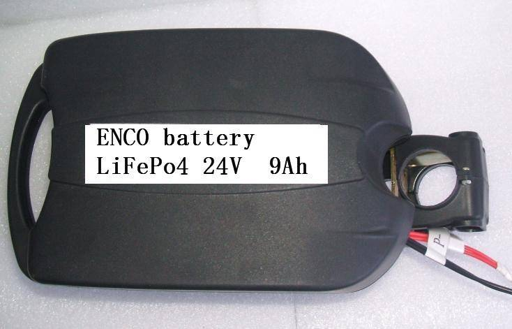 Electric Bike Battery 24V 9Ah LiFePO4 with Frog Case