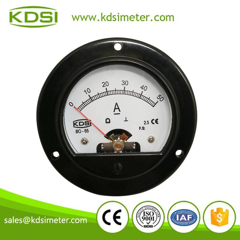 20 years Professional Manufacturer BO-65 DC50A panel ammeter