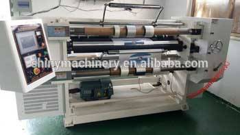 High Quality Vertical-type Plastic  Film  Paper Auto Label Slitting Machine