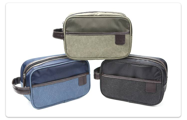 Blue canvas toiletry Kit