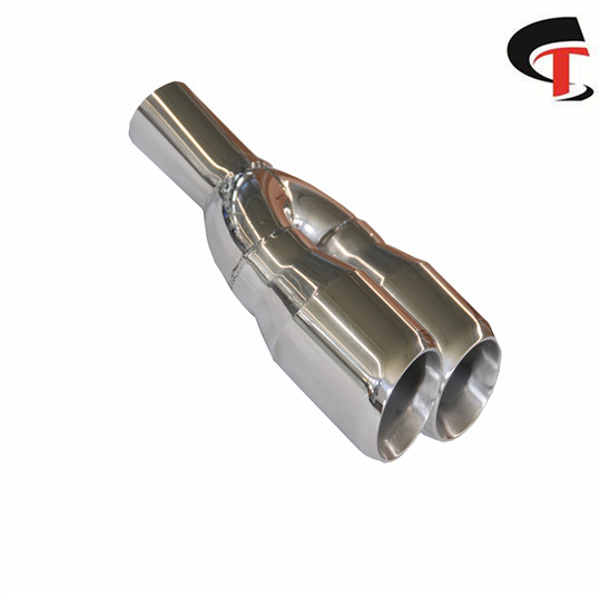 Polished Y-Piece Exhaust Tip