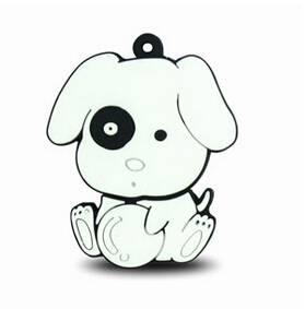 Lovely novelty dog style USB flash drive disks PVC