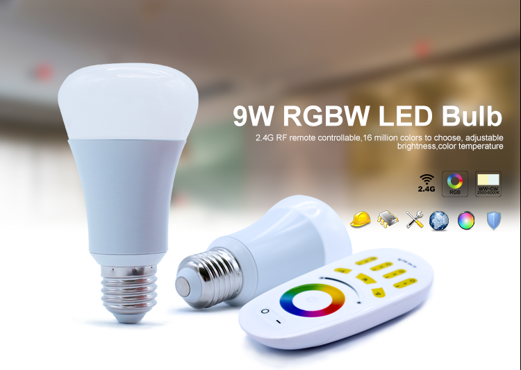 9W E27 RGB LED Light Bulbs AC100- 220V Million Colors with LED RGB Controller Remote Bulb Lamp Light