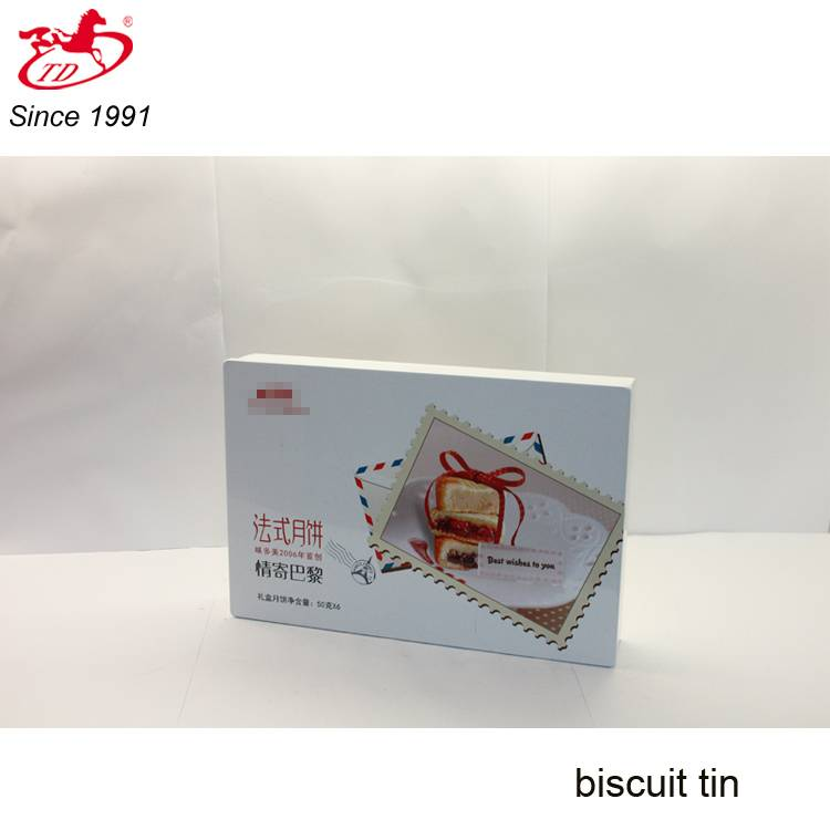 Rectangular tin cookie/cake box, tin can for health care product