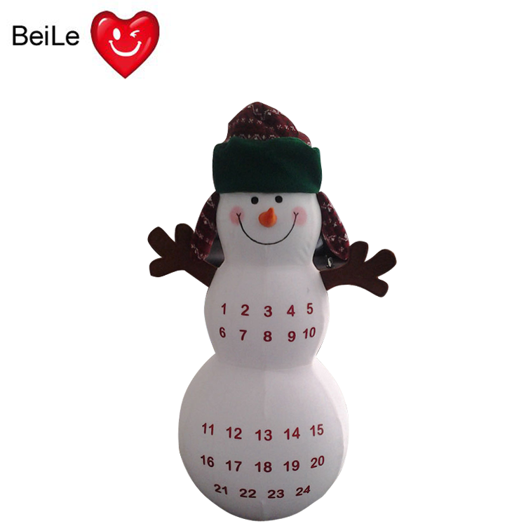 Customized snowman shape inflatable roly poly
