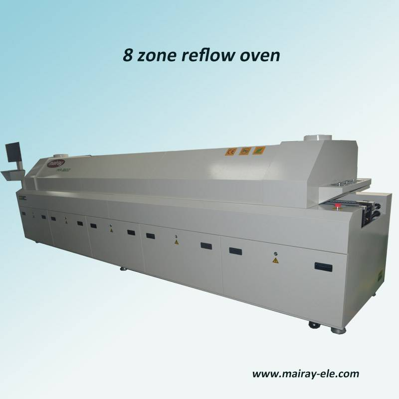 MR-8820 8 zone SMT reflow oven for LED assembly line