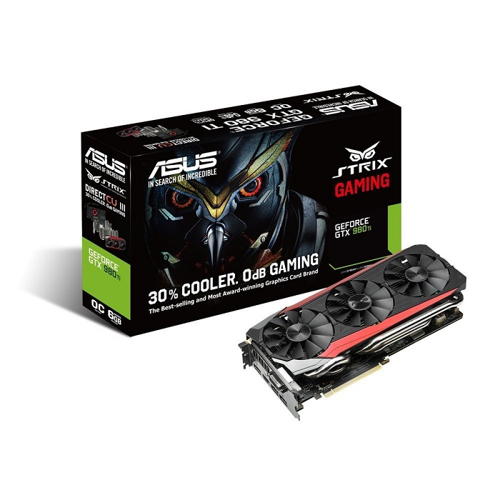 Asus Strix STRIX-GTX980TI-DC3OC-6GD5-GAMING GeForce GTX 980 TI Graphic Card