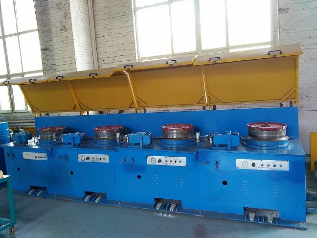 Flux cored welding wire straight line drawing machines