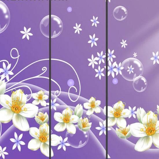 purple sliding door