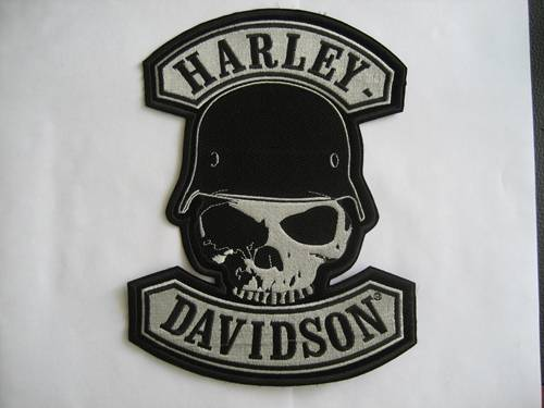 Harley Patches Skull Paterm Embroidery Patch