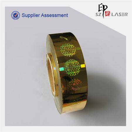 Holographic customized gold color warranty sticker labels