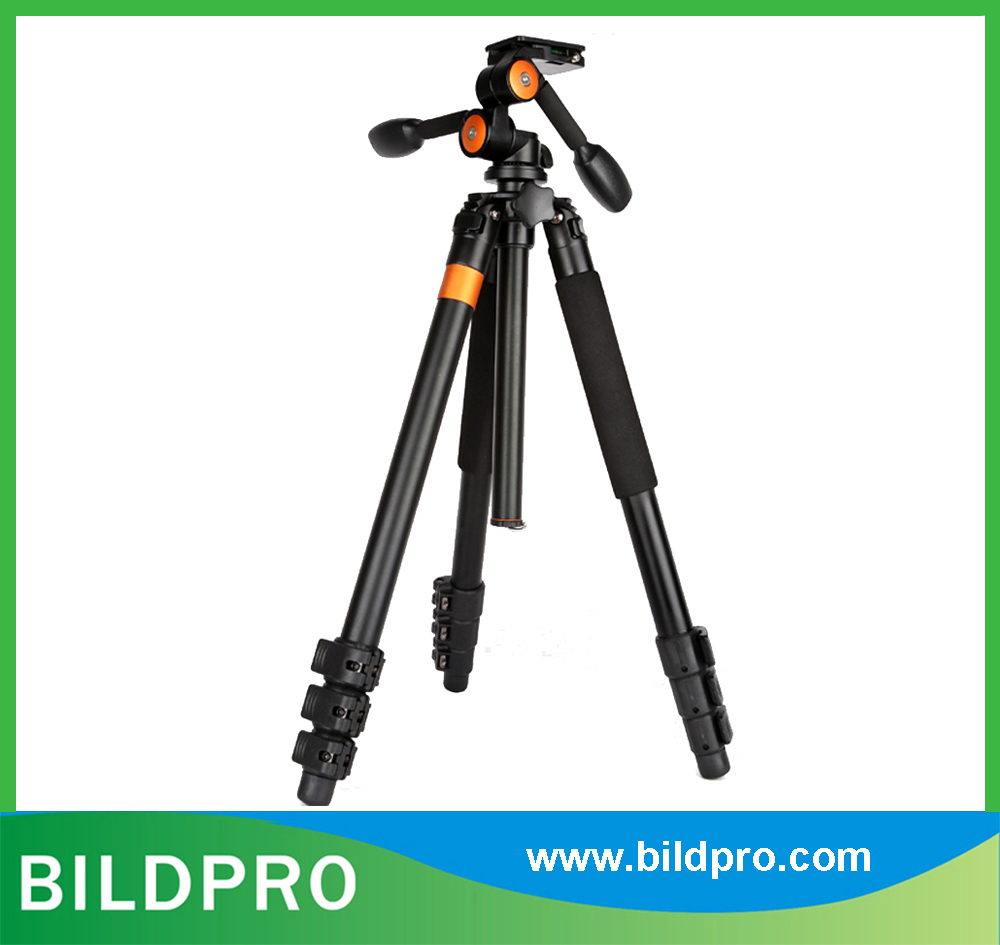 32mm Aluminum Tripod Heavy Duty Camcorder Video Stand with Fluid Head