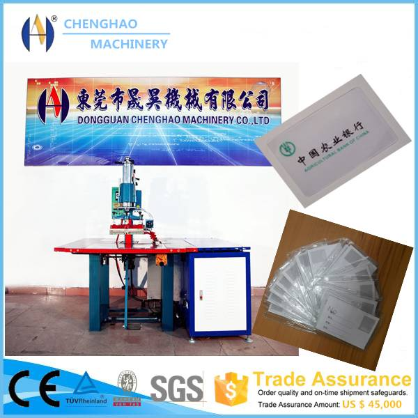 5-10kw high frequency bank card sleeve welding machine