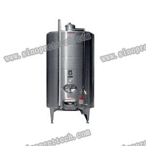 5000L SS 316L wine tank with dimple jacket