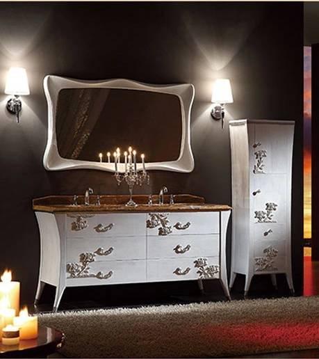 S-1512 Oak Wood Double Sink Bathroom Cabinet