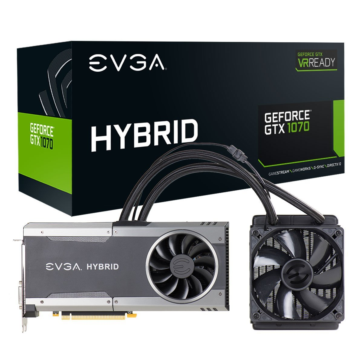 EVGA GeForce GTX 1070 FTW HYBRID GAMING, 8GB GDDR5, RGB LED, All-In-One 08G-P4-6278-KR