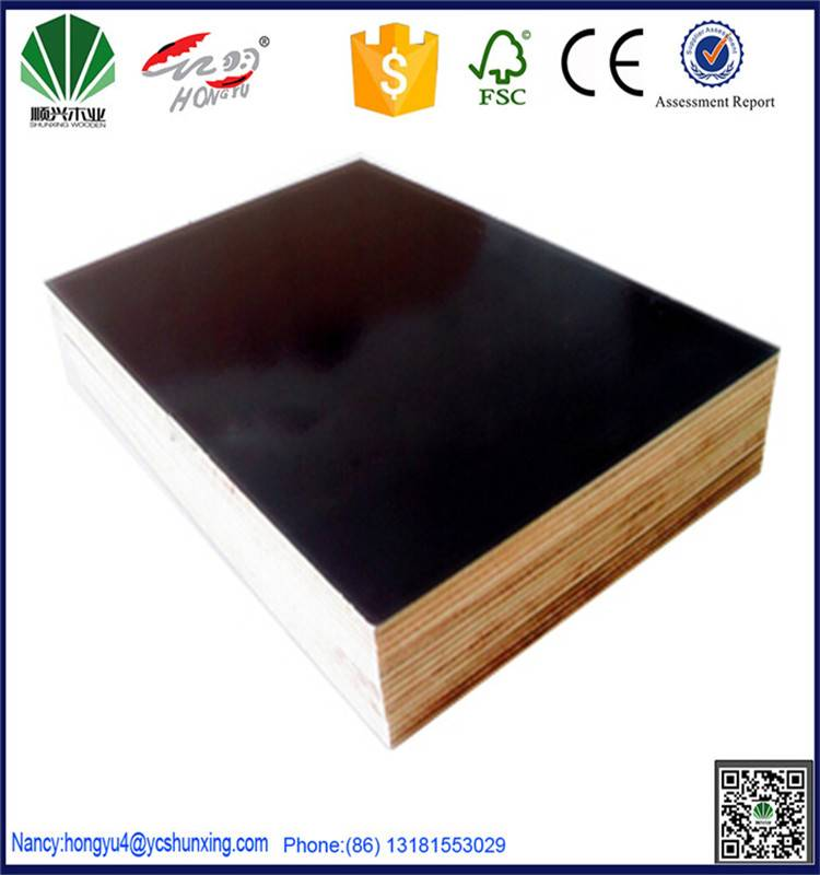 film faced shuttering plywood for concrete formwork