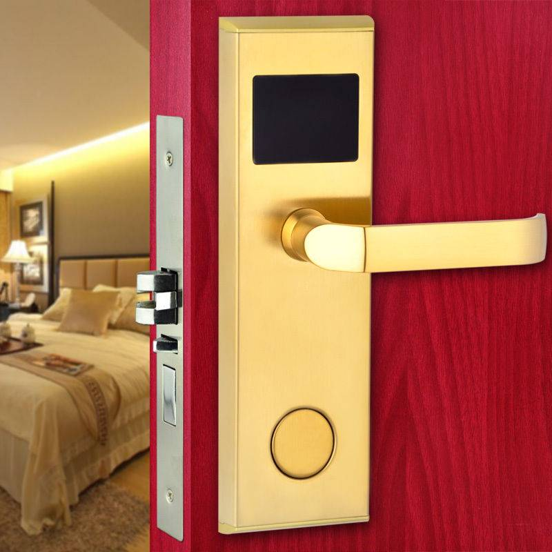 New bluetooth door lock touch screen digital lock304 Stainless Steel quality rfid hotel key card rea