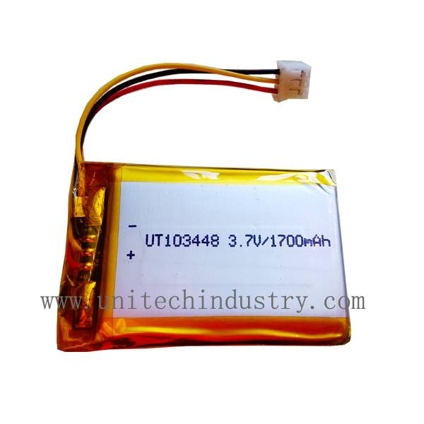 Lithium polymer battery Pack 103448 3.7V 1700mAh lipo battery
