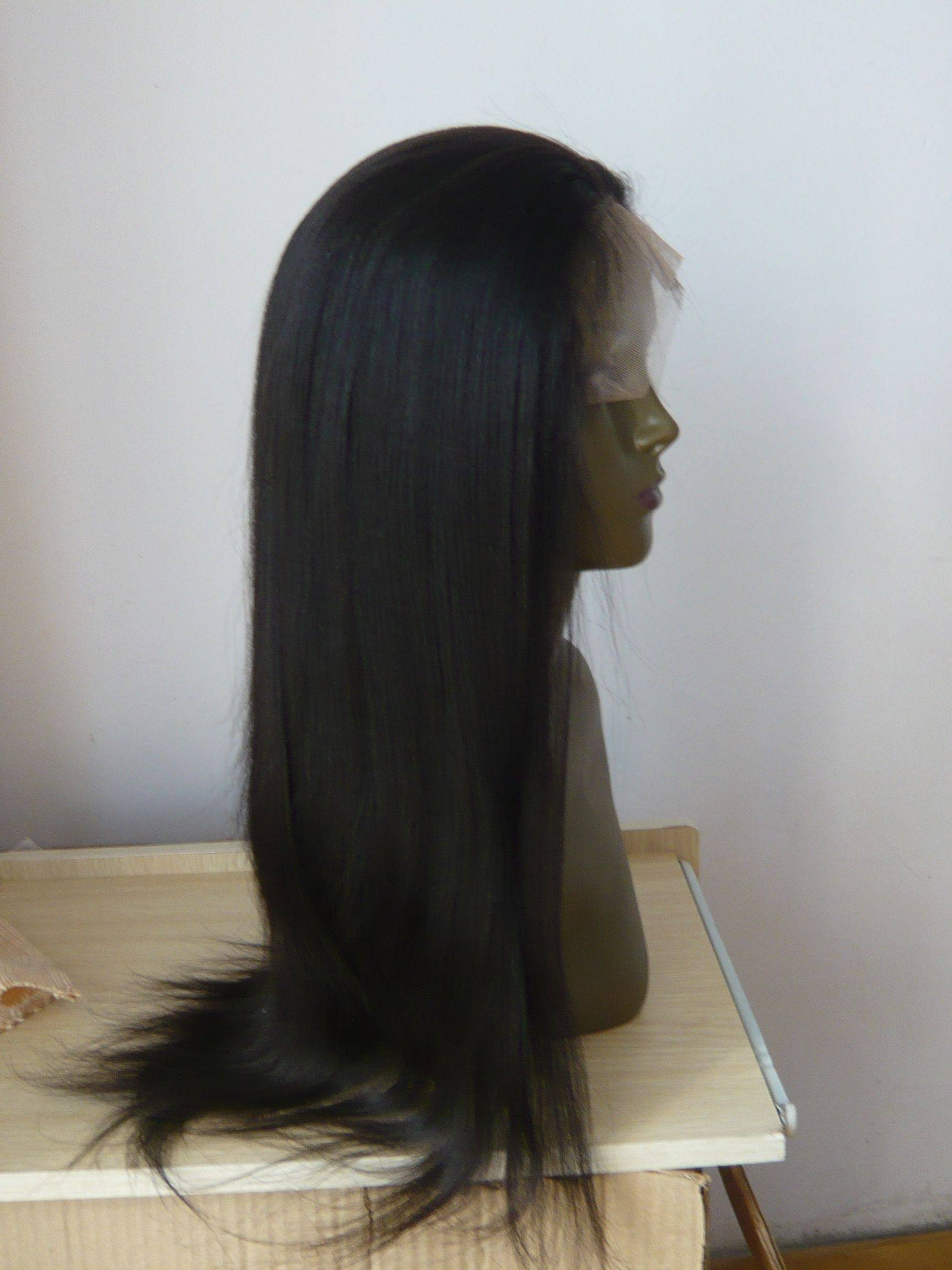 """18"""" #1B yaki full lace wigs+66% OFFshipping cost!"""