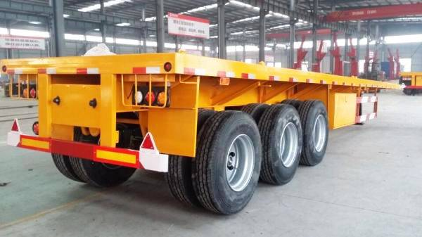 Cheap Price and Various Types Flatbed Truck Trailer with ABS System for Sale Brunei