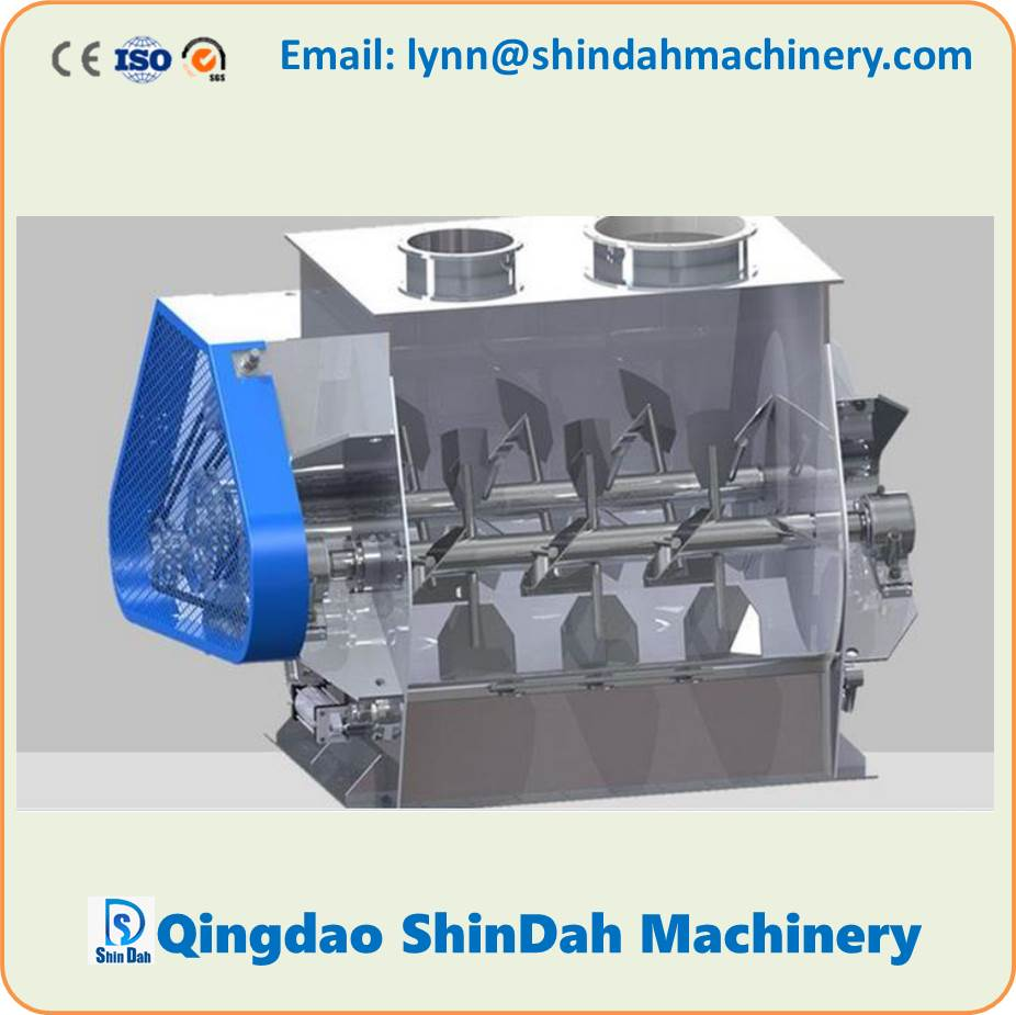 Horizontal Weightlessness Double Shaft Paddle Mixer Blender