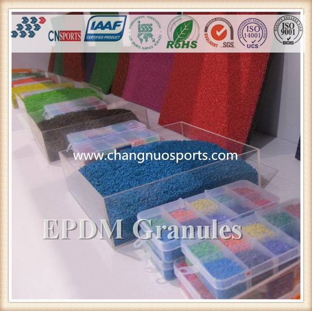 Colorful EPDM Rubber Granules-for artificial grass, playground