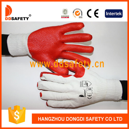 Cotton with red rubber glove-DCL301