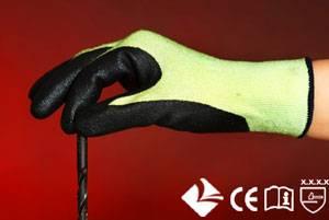Gloves or Nylon/Glass fiber knitting gloves with Nitrile coated on palm
