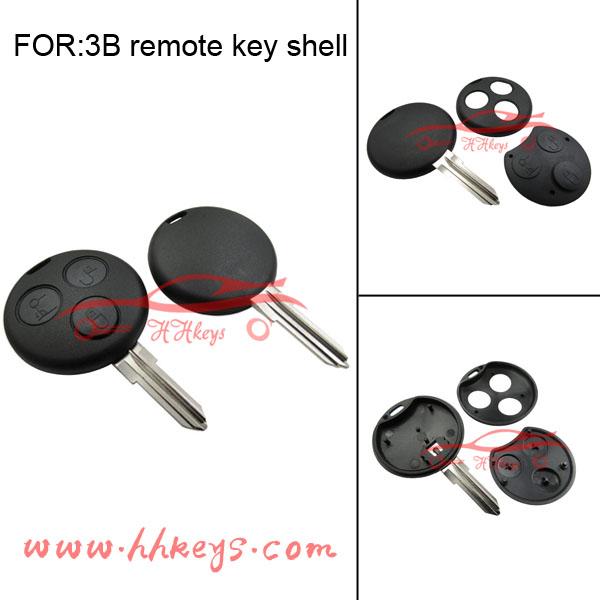 Benz 3 buttons smart remote key shell no logo