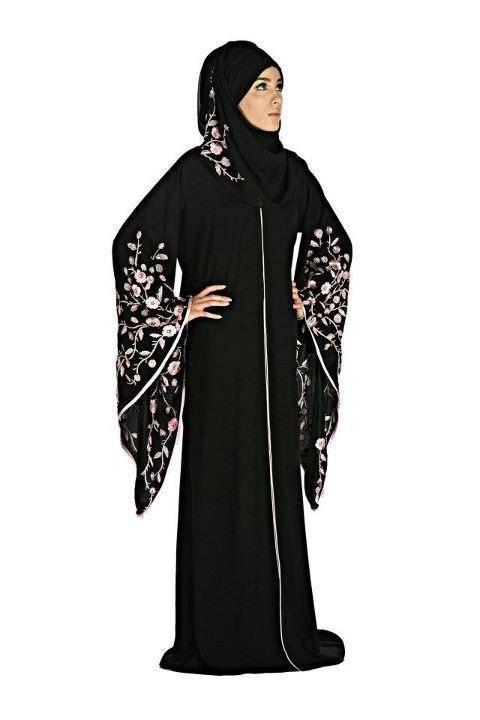 Trendy Black Abaya