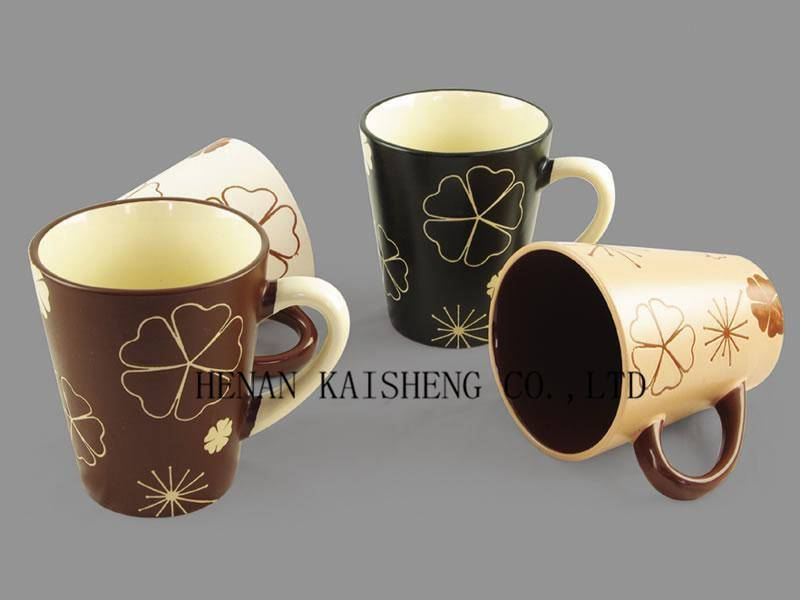 Color Glazed Ceramic Mug