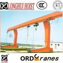 MHS type electric hoist semi gantry crane,(double girder)