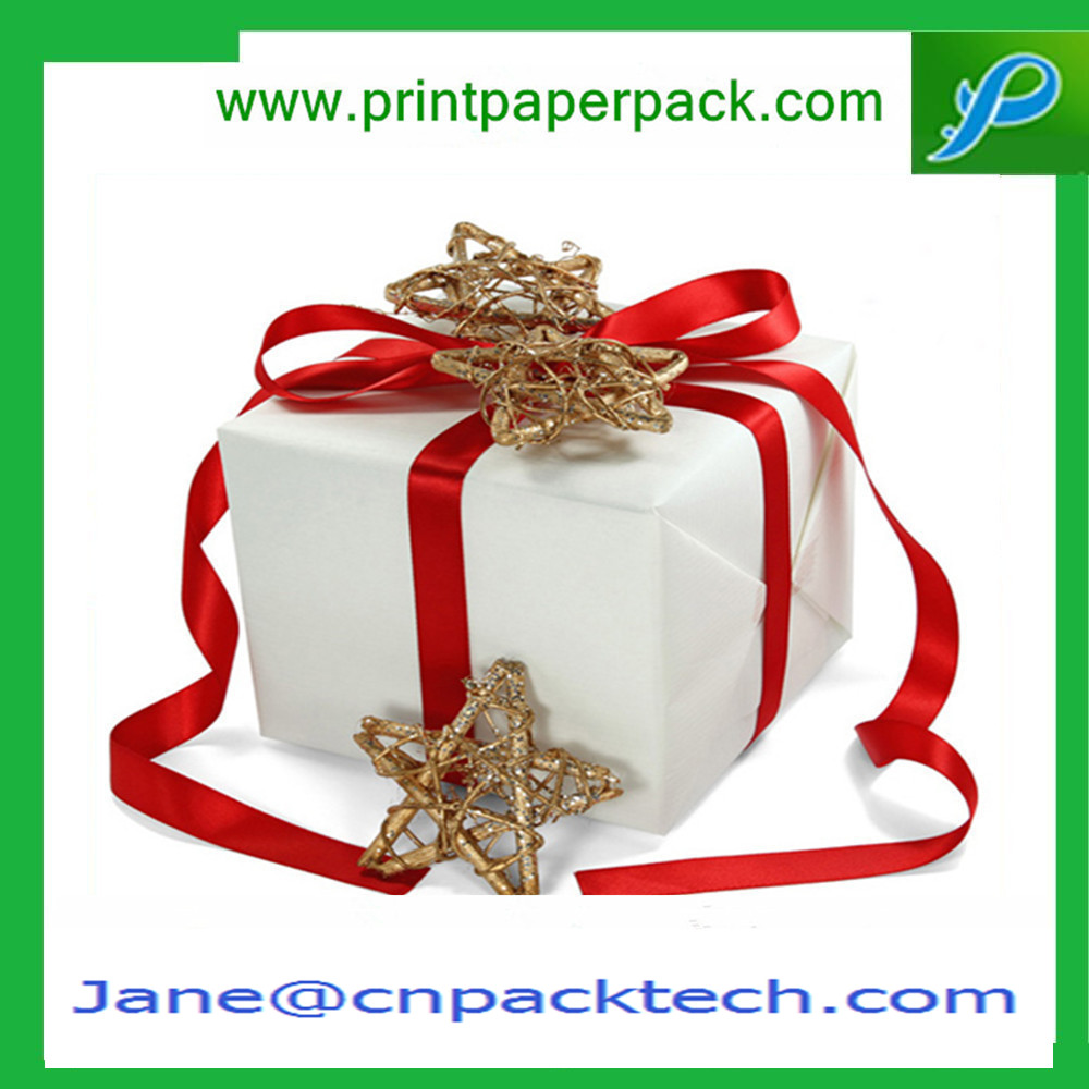 Custom Printed Paper Gift Box Ribbon Packaging Gift Boxes