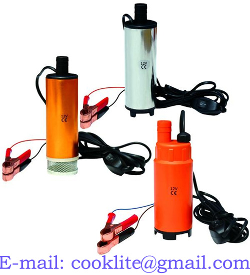 12V DC Diesel Fuel Water Oil Transfer Submersible Pump