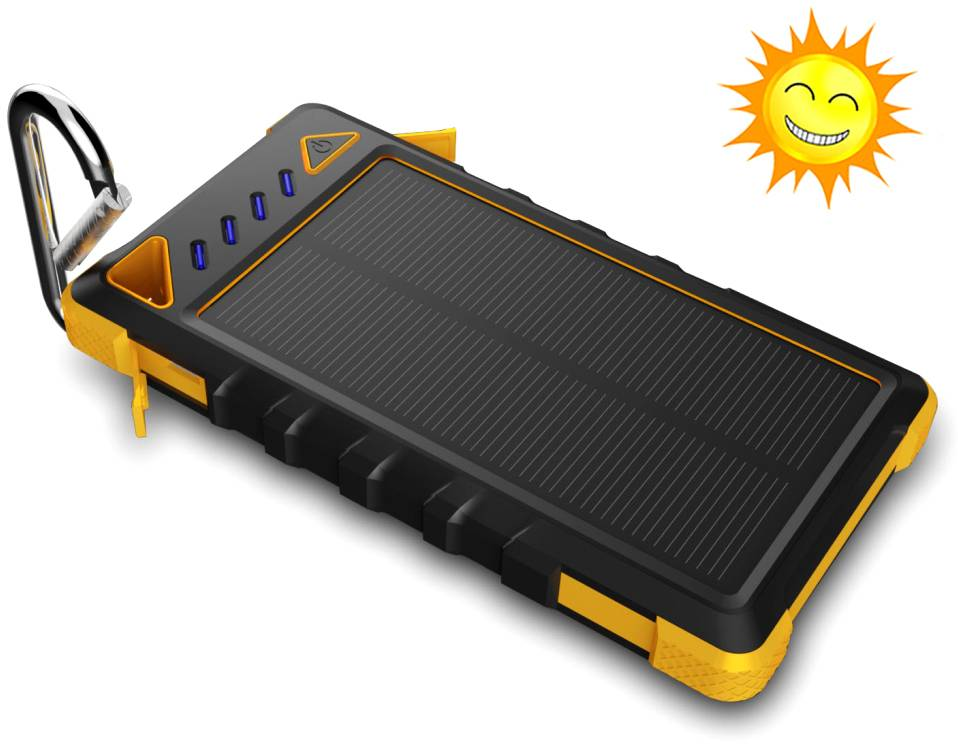 LYCEK Featured Waterproof Solar Power Bank With CE roHs Certifacate